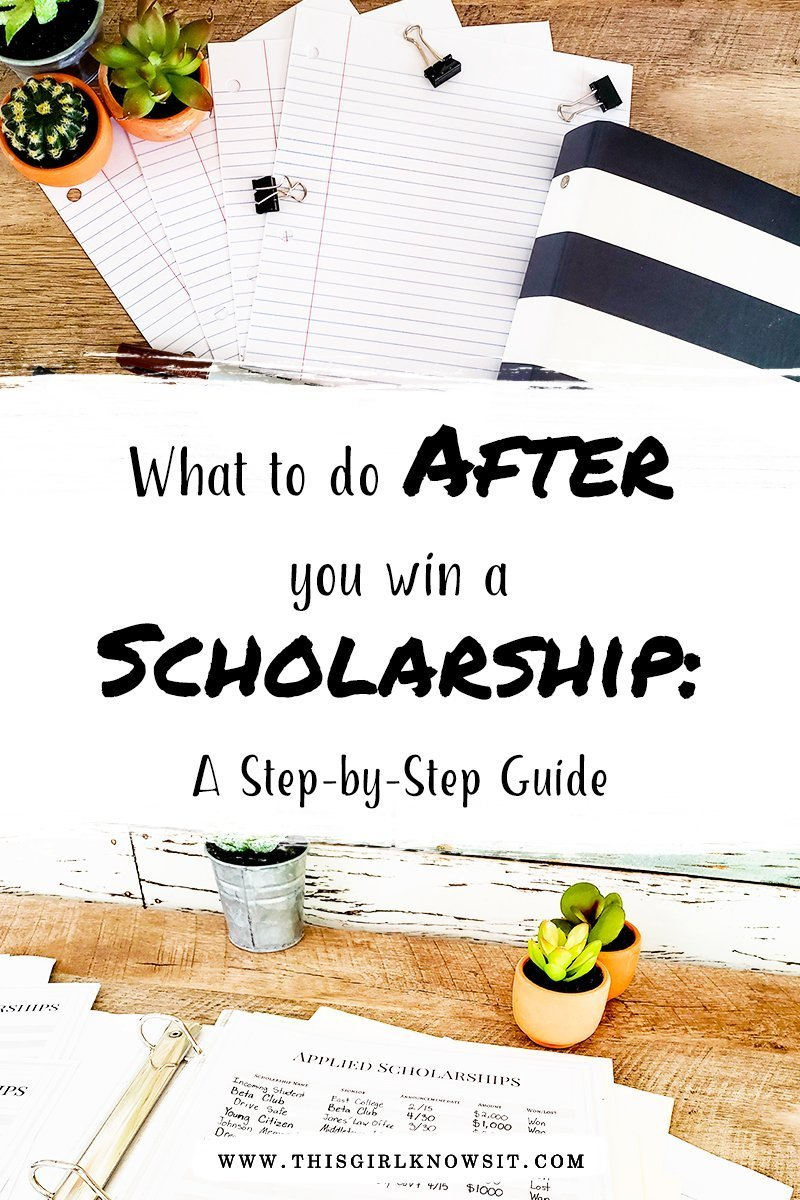 What to Do After You Win a Scholarship